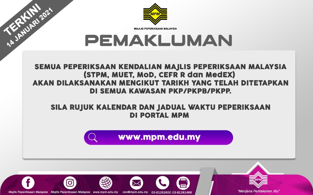 Portal Rasmi Majlis Peperiksaan Malaysia Mpm Portal Rasmi Majlis Peperiksaan Malaysia Mpm